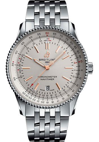 Breitling Watches - Navitimer Automatic 41mm - Stainless Steel - Navitimer Bracelet - Style No: A17326211G1A1