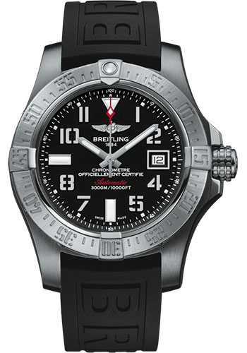 Breitling Watches - Avenger II Seawolf Diver Pro III Strap - Deployant Buckle - Style No: A17331101B1S1