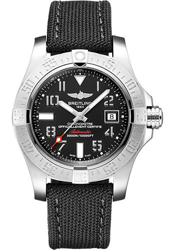 Breitling Watches - Avenger II Seawolf Military Strap - Tang Buckle - Style No: A17331101B1W1