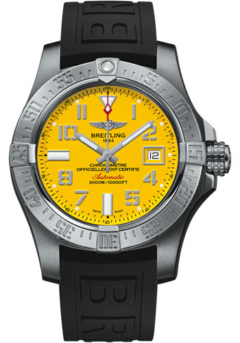 Breitling Watches - Avenger II Seawolf Diver Pro III Strap - Deployant Buckle - Style No: A17331101I1S1