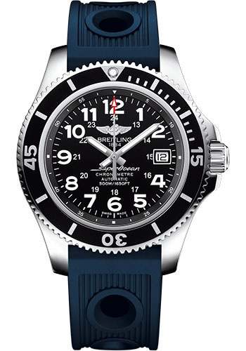Breitling Watches - Superocean II 42mm - Ocean Racer Strap - Style No: A17365C9/BD67-ocean-racer-blue-deployant