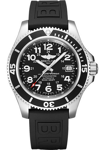 Breitling Watches - Superocean Automatic 42mm - Diver Pro III Strap - Tang - Style No: A17365C91B1S1