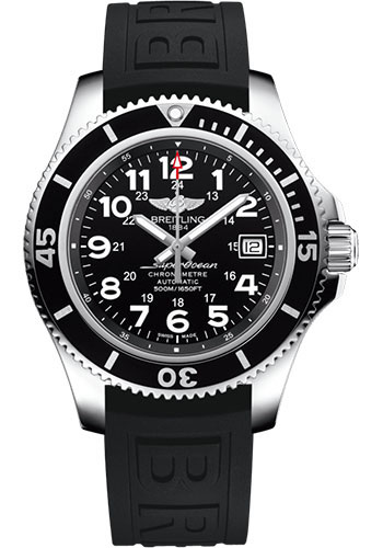 Breitling Watches - Superocean Automatic 42mm - Diver Pro III Strap - Deployant - Style No: A17365C91B1S2