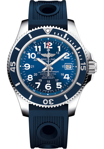 Breitling Watches - Superocean II 42mm - Ocean Racer Strap - Style No: A17365D1/C915-ocean-racer-blue-deployant