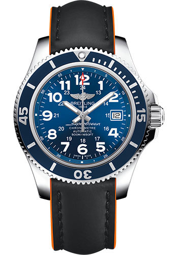 Breitling Watches - Superocean II 42mm - Superocean Strap - Style No: A17365D1/C915-superocean-black-orange-tang