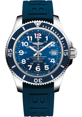 Breitling Watches - Superocean Automatic 42mm - Diver Pro III Strap - Deployant - Style No: A17365D11C1S2