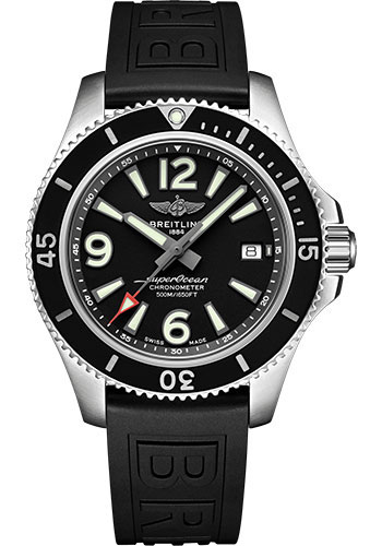 Breitling Watches - Superocean Automatic 42mm - Diver Pro III Strap - Tang - Style No: A17366021B1S1
