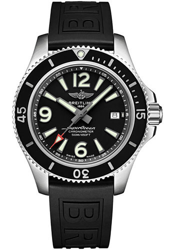 Breitling Watches - Superocean Automatic 42mm - Diver Pro III Strap - Deployant - Style No: A17366021B1S2