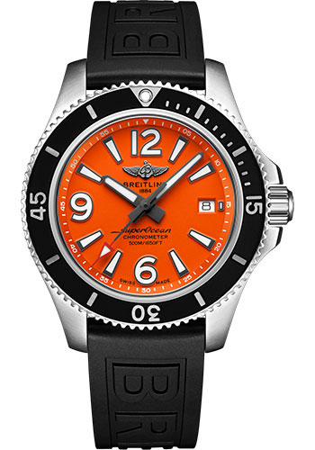 Breitling Watches - Superocean Automatic 42mm - Diver Pro III Strap - Tang - Style No: A17366D71O1S1