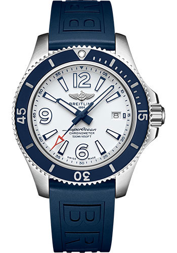 Breitling Watches - Superocean Automatic 42mm - Diver Pro III Strap - Tang - Style No: A17366D81A1S1