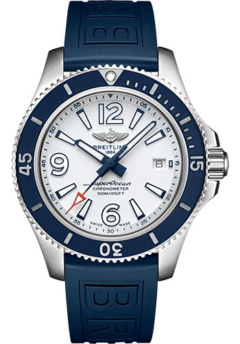 Breitling Watches - Superocean Automatic 42mm - Diver Pro III Strap - Deployant - Style No: A17366D81A1S2