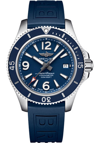 Breitling Watches - Superocean Automatic 42mm - Diver Pro III Strap - Deployant - Style No: A17366D81C1S2