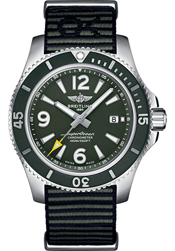 Breitling Watches - Superocean Automatic 44mm - Stainless Steel - NATO Strap - Tang - Style No: A17367A11L1W1