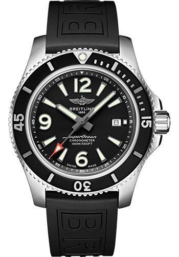 Breitling Watches - Superocean Automatic 44mm - Diver Pro III Strap - Deployant - Style No: A17367D71B1S2