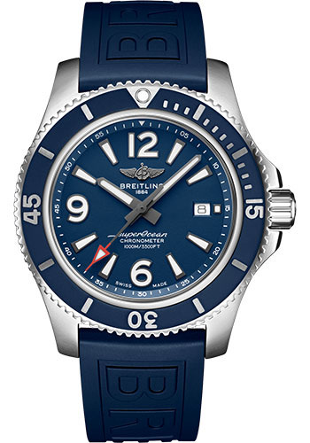 Breitling Watches - Superocean Automatic 44mm - Diver Pro III Strap - Tang - Style No: A17367D81C1S1