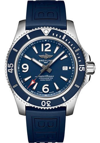Breitling Watches - Superocean Automatic 44mm - Diver Pro III Strap - Deployant - Style No: A17367D81C1S2