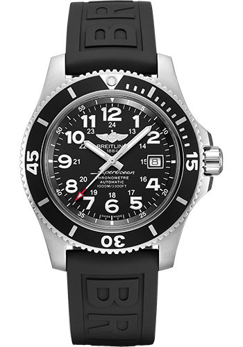 Breitling Watches - Superocean Automatic 44mm - Diver Pro III Strap - Tang - Style No: A17392D71B1S1
