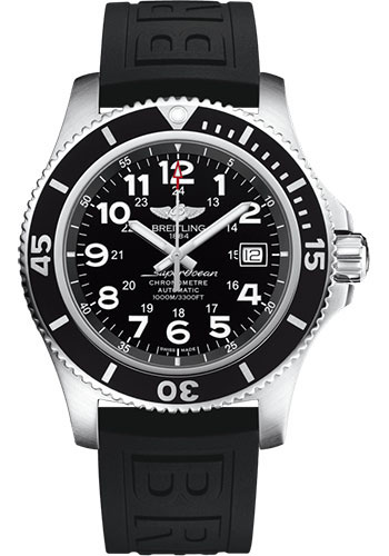 Breitling Watches - Superocean Automatic 44mm - Diver Pro III Strap - Deployant - Style No: A17392D71B1S2