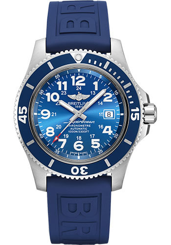 Breitling Watches - Superocean Automatic 44mm - Diver Pro III Strap - Tang - Style No: A17392D81C1S1
