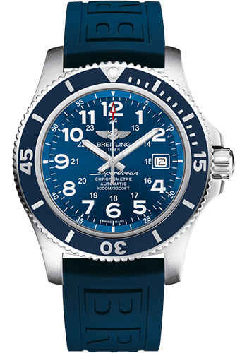 Breitling Watches - Superocean Automatic 44mm - Diver Pro III Strap - Deployant - Style No: A17392D81C1S2