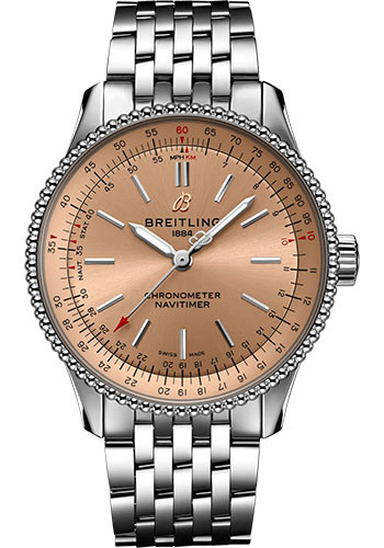 Breitling Watches - Navitimer Automatic 35mm - Stainless Steel - Metal Bracelet - Style No: A17395201K1A1