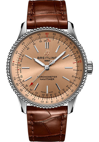 Breitling Watches - Navitimer Automatic 35mm - Stainless Steel - Croco Strap - Folding Buckle - Style No: A17395201K1P2