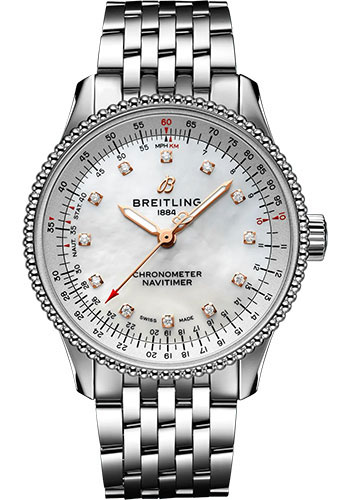 Breitling Watches - Navitimer Automatic 35mm - Stainless Steel - Metal Bracelet - Style No: A17395211A1A1