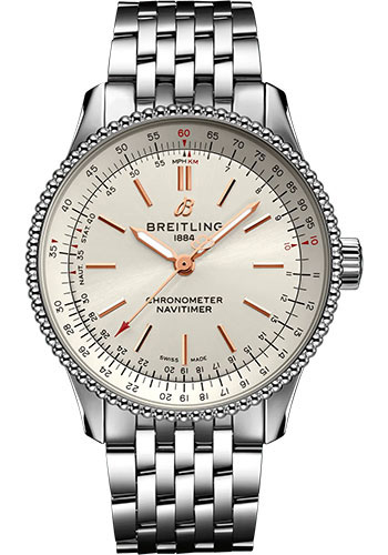 Breitling Watches - Navitimer Automatic 35mm - Stainless Steel - Metal Bracelet - Style No: A17395F41G1A1