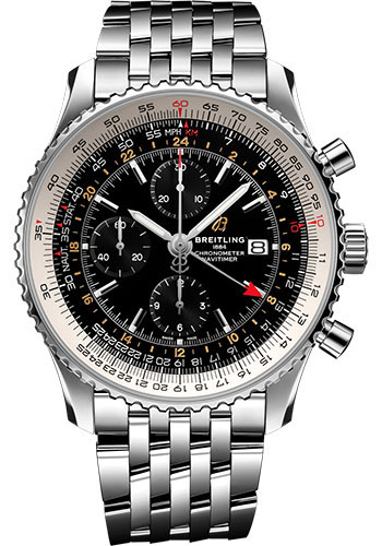 Breitling Watches - Navitimer Chronograph GMT 46 Stainless Steel - Navitimer Bracelet - Style No: A24322121B2A1