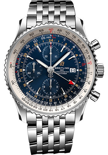 Breitling Watches - Navitimer Chronograph GMT 46 Stainless Steel - Navitimer Bracelet - Style No: A24322121C2A1
