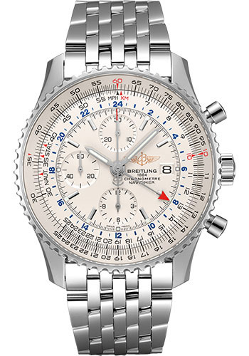 Breitling Watches - Navitimer Chronograph GMT 46 Stainless Steel - Navitimer Bracelet - Style No: A24322121G1A1