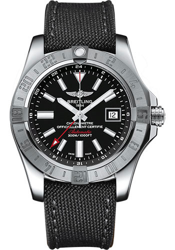 Breitling Watches - Avenger II GMT Military Strap - Tang Buckle - Style No: A3239011/BC35-military-anthracite-tang