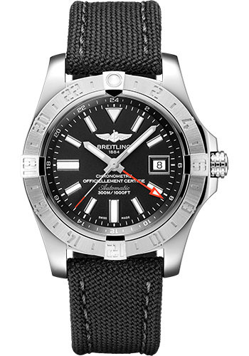 Breitling Watches - Breitling Avenger II GMT Military Strap - Tang Buckle - Style No: A32390111B1W1
