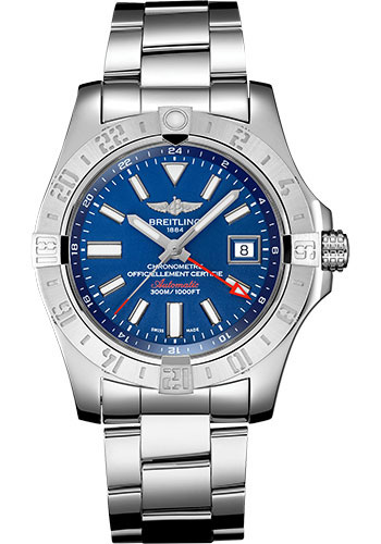Breitling Watches - Breitling Avenger II GMT Stainless Steel Bracelet - Style No: A32390111C1A1