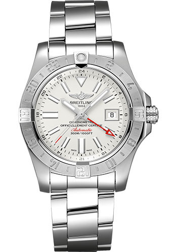 Breitling Watches - Breitling Avenger II GMT Stainless Steel Bracelet - Style No: A32390111G1A1