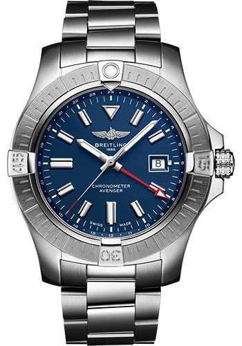 Breitling Watches - Avenger Automatic GMT 45 Stainless Steel - Metal Bracelet - Style No: A32395101C1A1