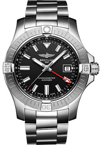 Breitling Watches - Avenger Automatic GMT 43 Stainless Steel - Metal Bracelet - Style No: A32397101B1A1
