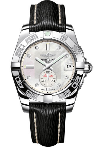 Breitling Watches - Galactic 36 Automatic Stainless Steel - Polished Bezel - Sahara Strap - Style No: A3733012/A717/213X/A16BA.1