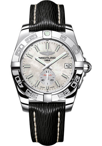 Breitling Watches - Galactic 36 Automatic Stainless Steel - Polished Bezel - Sahara Strap - Style No: A3733012/A788/213X/A16BA.1