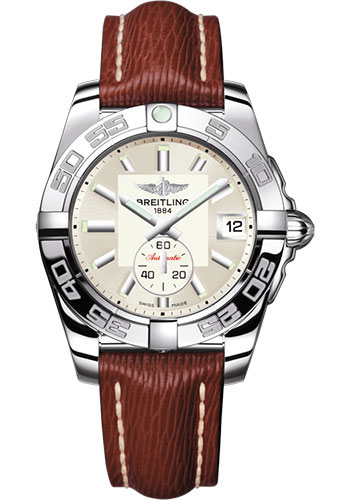 Breitling Watches - Galactic 36 Automatic Stainless Steel - Polished Bezel - Sahara Strap - Style No: A3733012/G706/216X/A16BA.1