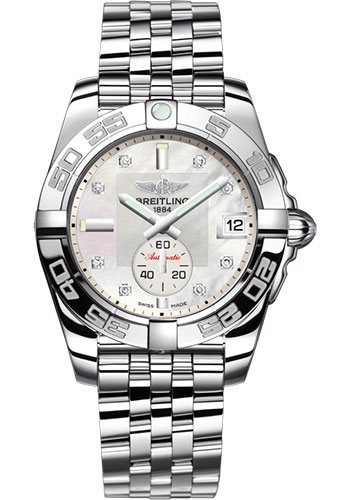 Breitling Watches - Galactic 36 Automatic Stainless Steel - Polished Bezel - Pilot Bracelet - Style No: A37330121A1A1