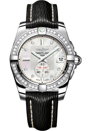Breitling Watches - Galactic 36 Automatic Stainless Steel - Diamond Bezel - Sahara Strap - Style No: A3733053/A717/213X/A16BA.1