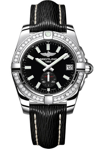 Breitling Watches - Galactic 36 Automatic Stainless Steel - Diamond Bezel - Sahara Strap - Style No: A37330531B1X1