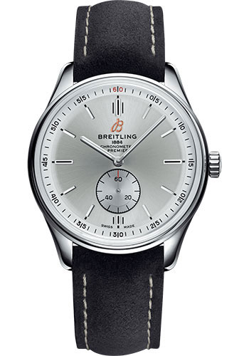 Breitling Watches - Premier Automatic 40mm - Nubuck Strap - Deployant - Style No: A37340351G1X1