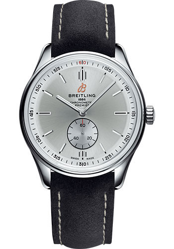 Breitling Watches - Premier Automatic 40 Stainless Steel - Nubuck Strap - Tang - Style No: A37340351G1X2