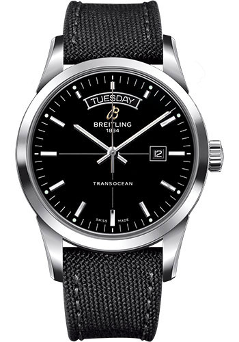 Breitling Watches - Transocean Day and Date Stainless Steel on Military Strap - Style No: A4531012/BB69-military-anthracite-tang