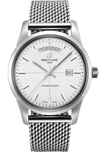Breitling Watches - Transocean Day and Date Stainless Steel - Bracelet - Style No: A45310121G1A1