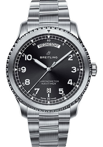 Breitling Watches - Navitimer 8 Automatic Day and Date 41mm - Stainless Steel - Professional III Bracelet - Style No: A45330101B1A1