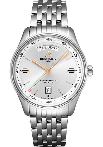Breitling Watches - Premier Automatic Day and Date 40 Stainless Steel - Navitimer Bracelet - Style No: A45340211G1A1