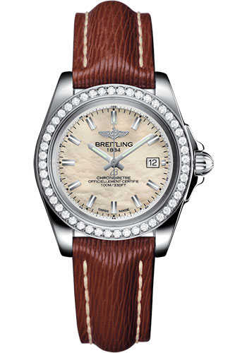 Breitling Watches - Galactic 32 Sleek Stainless Steel - Diamond Bezel - Sahara Strap - Tang - Style No: A7133053/A800/211X/A14BA.1